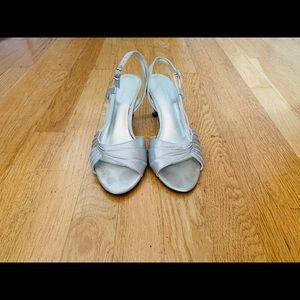 Liz Claiborne silver heeled sandals